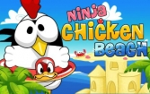 Ninja chicken: Beach