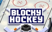 Blocky hockey: Ice runner