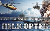 Navy gunship shooting helicopter