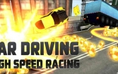 Car driving: High speed racing
