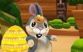 Easter bunny. Rabbit frenzy: Easter eggs storm